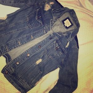 This is an oversized jean jacket from Forever 21
